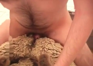 Passionate guy is banging a sheep wildly