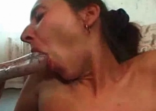 Hungry mouth getting all that dog cum